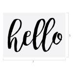 Hello, Chalk Couture 5x7 Transfer